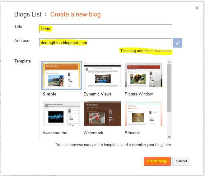 Free Blog on Blogger