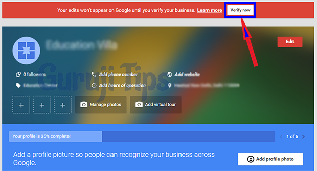 Google Business Verification
