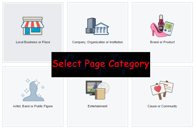Select Page Category