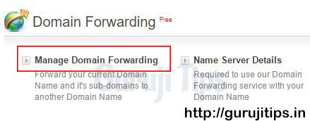 Domain Forward steps in Bigrock