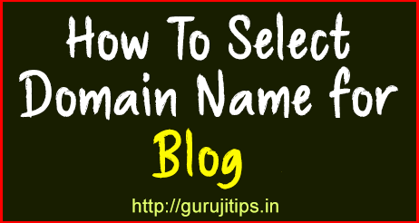 How To Select Domain name