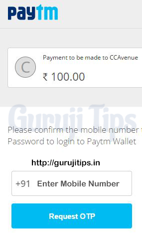 Add Money from Paytm to bigrock