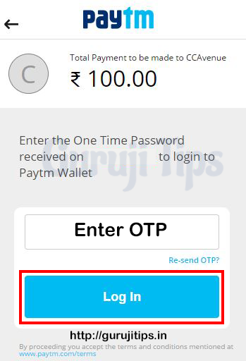 Enter OTP and Login