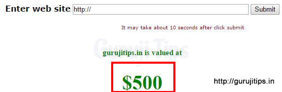Domain Value of GurujiTips