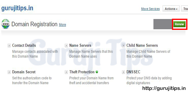 Domain Renew Process