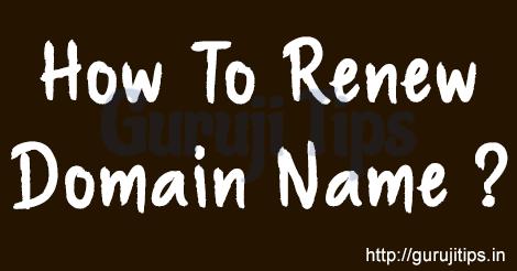 How to Renew Domain
