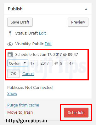 Wordpress Post Scheduler
