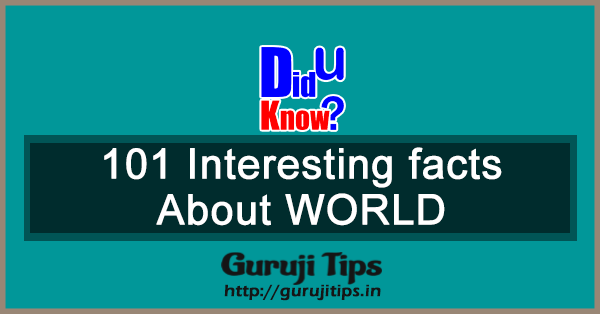 101 Interesting Fact of World